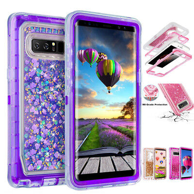 $ CDN8.60 • Buy 360 Bling Glitter Liquid Clear Case Cover For Samsung Galaxy S7 S8 S9 Plus Note8