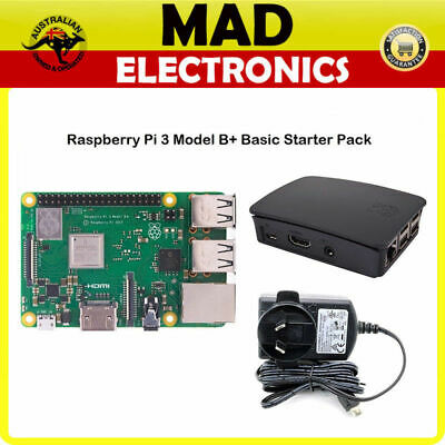 AU129 • Buy Raspberry Pi 3 Model B+ And Official Case + Official 5.1v 2.5a Power Supply