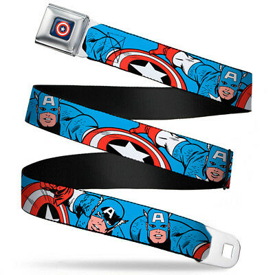 $23.95 • Buy Seat Belt Buckle For Pants Men Women Kids Marvel Comics Captain America WCA004