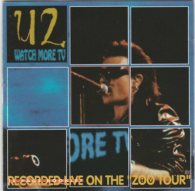 U2 - Watch More TV CD Recorded Live At The Silverdrome, Detroit, MI, 9/9/92 • 40$