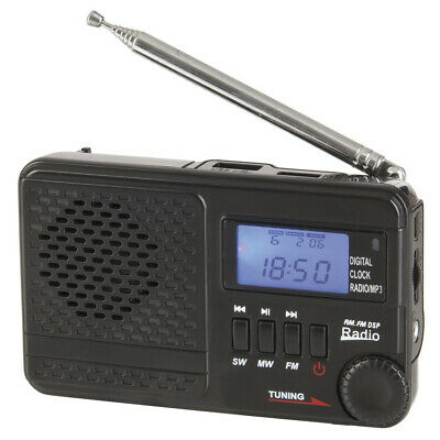 Portable AM/FM/SW Rechargeable Radio With MP3 Supports USB Flash Drive&Micro SD • 21.12£