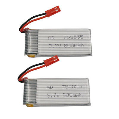 2pcs 3.7V 25C 800mAh 752555 Lipo Liion Battery For RC Drone JJRC F181 H12C H121W • 10.90£