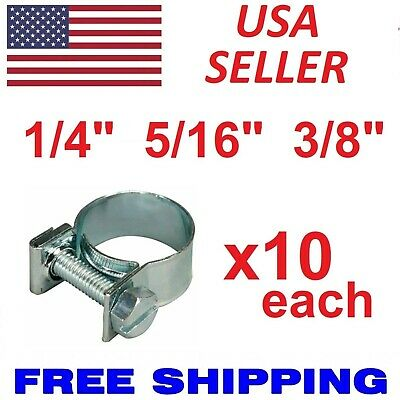 $8.88 • Buy New 30 Pcs 1/4  5/16  3/8  Fuel Injection Gas Line Hose Clamps Clip Pipe Clamp