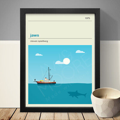 JAWS Alternative Minimal Movie Poster • 22£