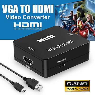 AU21.84 • Buy VGA Female To HDMI Output 1080P HD + Audio TV AV HDTV Video Converter Adapter AU