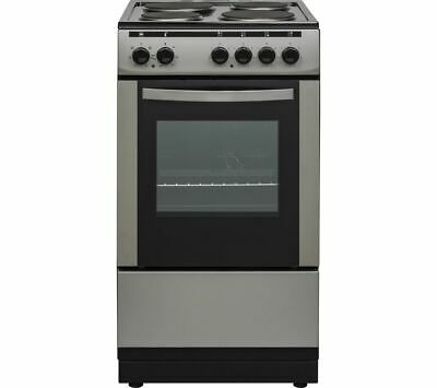 £179 • Buy ESSENTIALS CFSESV18 50 Cm Electric Solid Plate Cooker Inox & Black - Currys