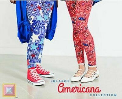 15a068d4ace915 LuLaRoe AMERICANA July MYSTERY Leggings Kids S/M L/XL Tween OS TC TC2 Tall
