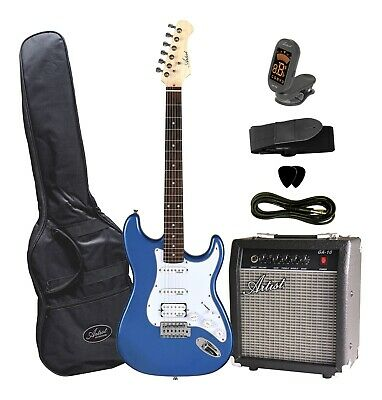 AU249 • Buy STHPK Electric Guitar With Amp And Accessories - Metallic Blue