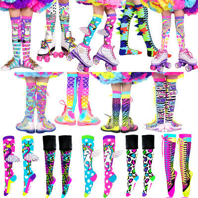 AU29.90 • Buy MADMIA SOCKS Girls + Adults Knee High Colorful Crazy Funky Cool Fun Lace Up