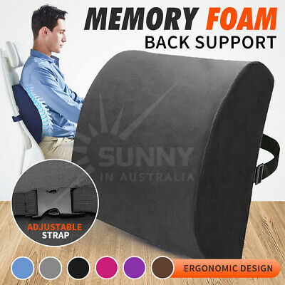 AU15.56 • Buy Memory Foam Lumbar Back Pillow Support Back Cushion Home Office Car Seat Chair