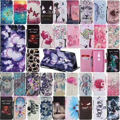 AU6.15 • Buy For Sony Xperia XA1 XA2 Ultra /XZ XZ1 XZ2 Compact Flip Leather Wallet Case Cover
