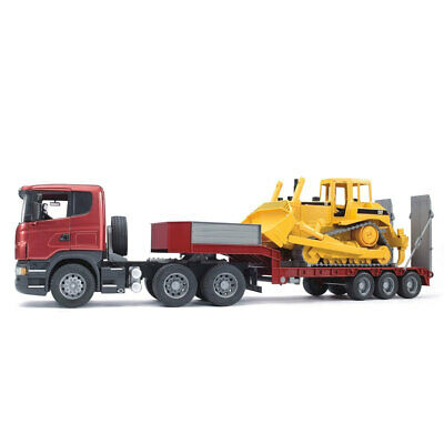 AU169 • Buy Bruder 90cm 1:16 Scania R-Series Low Loader Truck/CAT Bulldozer Tractor Kids Toy