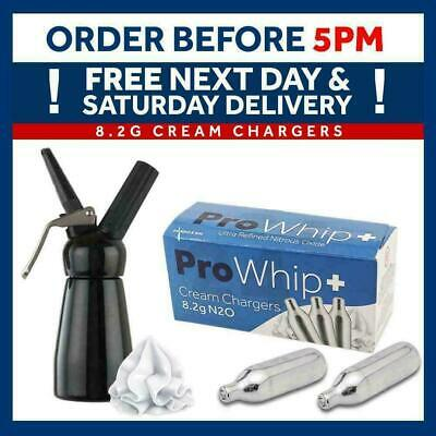 Pro Whip 8g Whipped Cream Chargers Whipping Canisters ADD Whipping Dispenser • 14.95£