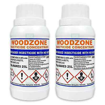 Woodzone 2 Professional Woodworm Treatment Killer Preservative Spray Concentrate • 32.99£