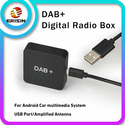 DAB+Digital Radio Tuner Amplified Antenna Kit For Car Stereo Android 9.0/10.0 • 30.79£