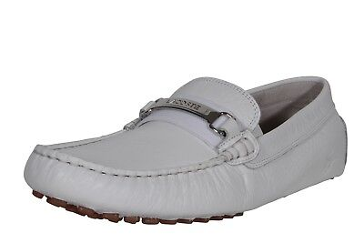 915bf8076 Lacoste Men s Leather Loafers Ansted 318 U Cam White 7-36CAM0081Y37 Medium  (D