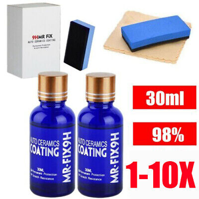 AU14.49 • Buy 10X MR FIX 9H Anti-scratch Car Liquid Ceramic Super Hydrophobic Glass Coating AU