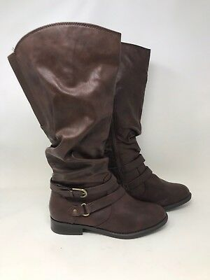 e2b2a601dc76e Women s Jaclyn Smith 30616 Erica Riding Boots - SIZE 8 (WIDE) Brown