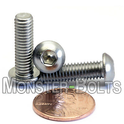 $10.54 • Buy M6 - 1.0 X 20mm Stainless Steel Button Head Socket Hex Cap Screws, A2 ISO 7380