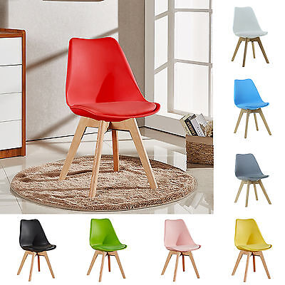 £43.89 • Buy Tulip Dining Chair Eiffel Inspired Solid Wood Legs Padded Seat Comfortable UK
