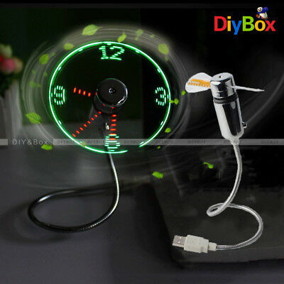 AU8.82 • Buy LED Fan Mini USB Clock Fan Powered Cooling Flashing Real Time Display Function