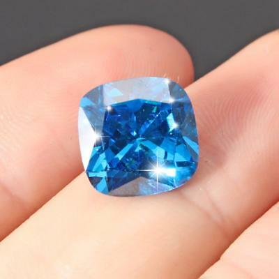 Unheated Ceylon Blue Sapphire 8.71 Carats Cushion Shape 10*10mm Free Shipping  • 7.19$