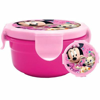 Official Childrens Minnie Mouse Lunch Box Picnic Box In Pink Kids Back To School • 4.99£