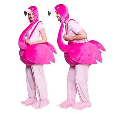 Adult Flamingo Costume Step In Riding Animal Bird Fancy Dress Outfit • 39.99£