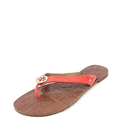 97c288d150ec Tory Burch Thora Red Leather Thong Flip Flop Sandals Women s Size 6 M