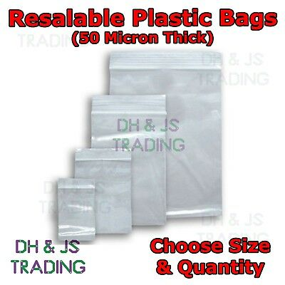 Small & Large Sealer Bags - Resealable Poly Polythene Zip Lock Plastic Bags Seal • 5.95£