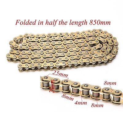 AU58.99 • Buy Gold 428 Chain 136 Links O-ring Chain For Pit Dirt Bike Motorcycle AU Stock