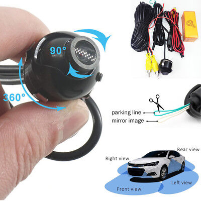 $ CDN22.46 • Buy Night View 360Degree Car Left+Right Rear Front View Backup Camera Mirror Image
