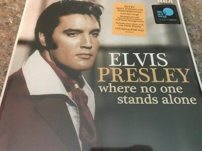 Elvis Presley Where No One Stands Alone Pink Vinyl LP NEW Gospel LIMITED ED • 38.57£