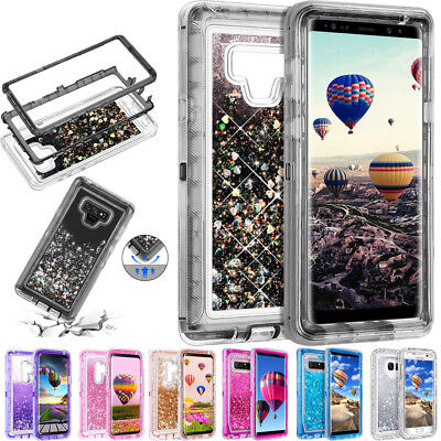 $ CDN8.60 • Buy For Samsung Galaxy Note 9 S8+ 360° Flowing Liquid Bling Glitter Phone Case Cover