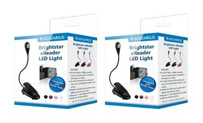 TWO X New Flexible Clip On LED Light For Kindle/Touch 3G/Kobo Touch EReaders NEW • 7.75£