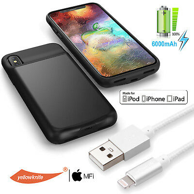 AU65.99 • Buy Ultra-Slim Battery Case Backup Power Bank Charger Charging Cable For IPhone X AU