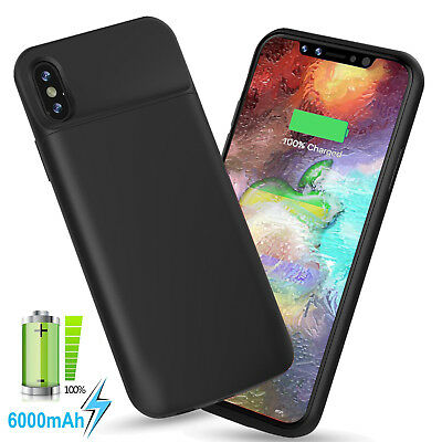 AU69.99 • Buy Extended Battery Charger Case For IPhone X [Apple Certified Chip; IOS 11+] Black