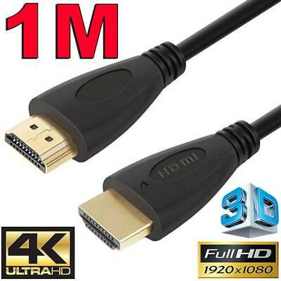 AU4.85 • Buy 1m GOLD HDMI Cable V2.0 Ultra HD 4K 2160p 1080p 3D High Speed Ethernet ARC HEC