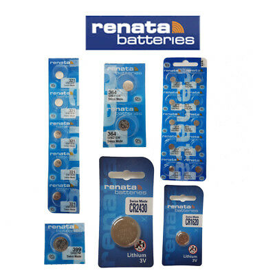 Renata Battery Batteries Silver Oxide 1.55v Lithium 3v Watch ALL SIZES X 10 PACK • 6.59£