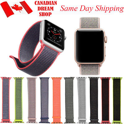 $ CDN13.99 • Buy Nylon Woven Replacement Strap For Apple Watch Band 42mm/38mm IWatch Series 1 2 3