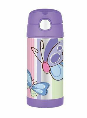 AU16.50 • Buy THERMOS Drink Bottle Purple Butterflies AUTHENTIC New Kids Lunch Box