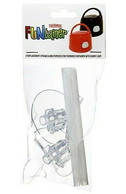 AU8.50 • Buy Thermos Drink Bottle 2pk Replacement Mouthpiece & Straw (For 355ml With Loop)