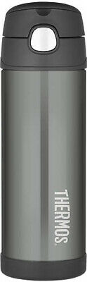 AU23 • Buy THERMOS Drink Bottle 470ml Charcoal AUTHENTIC Kids Back To School