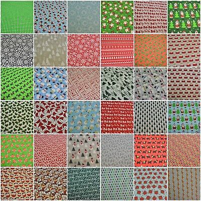Christmas Festive Polycotton Fabric Sold By The Metre • 4.99£