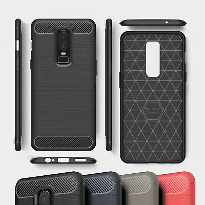 AU8.11 • Buy Carbon Fibre TPU Silicone Gel Phone Case Cover For OnePlus 5 5T 6 6T 7 7T Pro