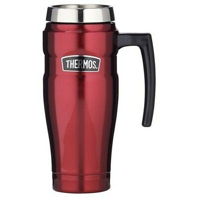 AU32 • Buy THERMOS Stainless Insulated Travel Mug With Handle 470ml Red AUTHENTIC