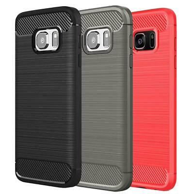 $ CDN6.39 • Buy Fits Samsung Galaxy S7 Case Thin Impact Shockproof Carbon Fiber Texture Cover