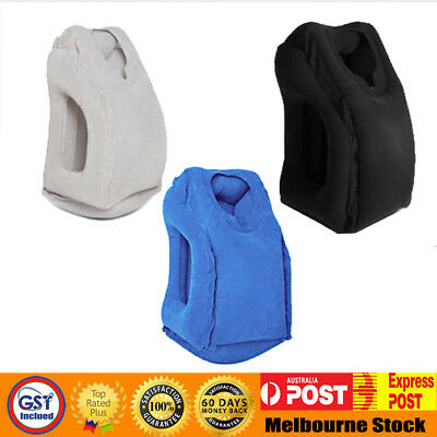 AU17.55 • Buy New Inflatable Air Travel Pillow Cushion Neck On Flight Car Soft Comfortable MEL