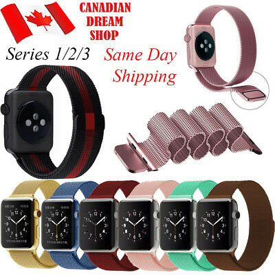 $ CDN14.99 • Buy Milanese Magnetic Stainless Steel Bracelet For Apple Watch Band All Series 38/42