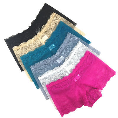 SEXY Ladies Lace French Knickers Womens  BoyShorts Brief 3 Pack XS S M L XL XXL  • 6.29£